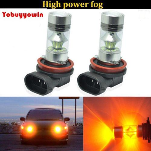 2x H11 H8 High Power White COB Projector LED Fog Driving Light Lamps Bulb 60W