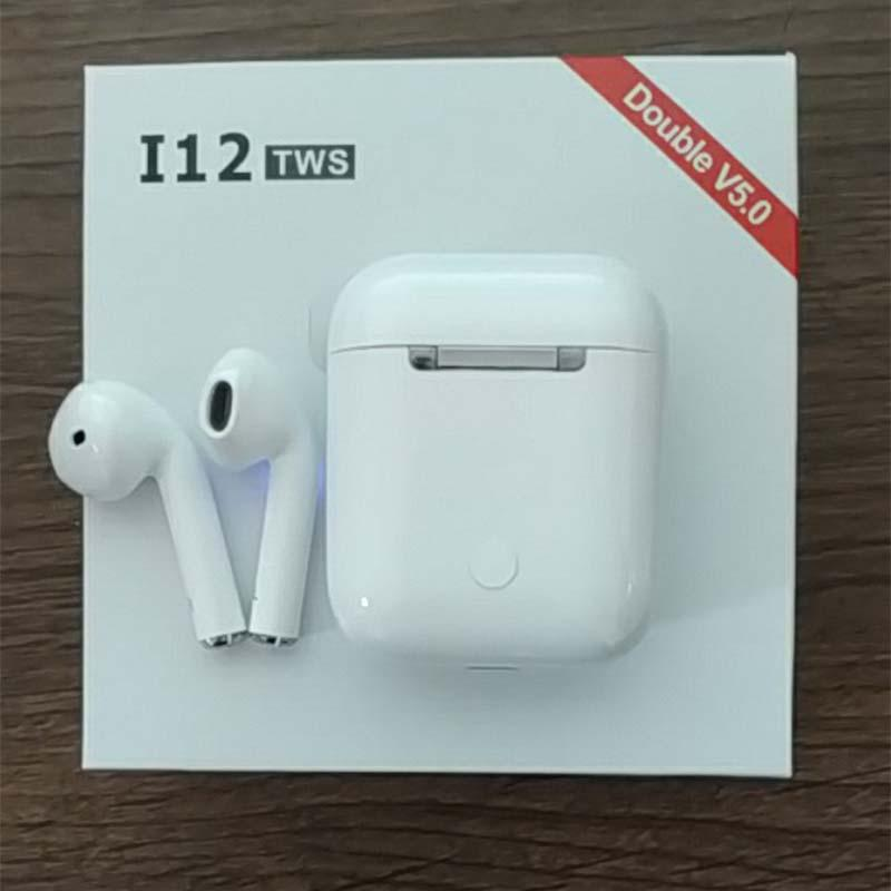 i12 air TWS mini Wireless Bluetooth Earphones 5 0 3D bass ear Headset for  all cell pk i10 i13 i18 i20 XY pods i16 i15 i14 tws