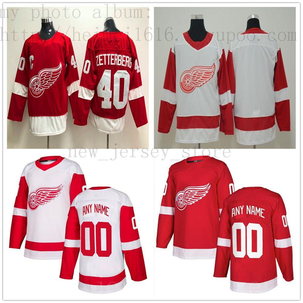 quality design fa6c5 28fa6 Custom Detroit Red Wings Hockey Jersey New 14 Gustav Nyquist 8 Justin  Abdelkader 72 Andreas Athanasiou 45 Jonathan Bernier 59 Tyler Bertuzzi