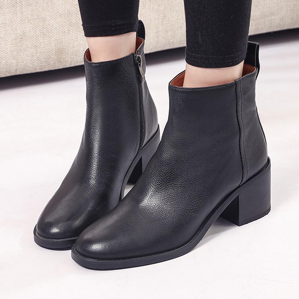 a0b885a223e Women Shoes Boots Black Vintage Plat Heel Women Vintage Chunky High Heels  Thick Heel Short Boot Ankle Booties Zipper Shoes Fringe Boots Boot Socks  From ...