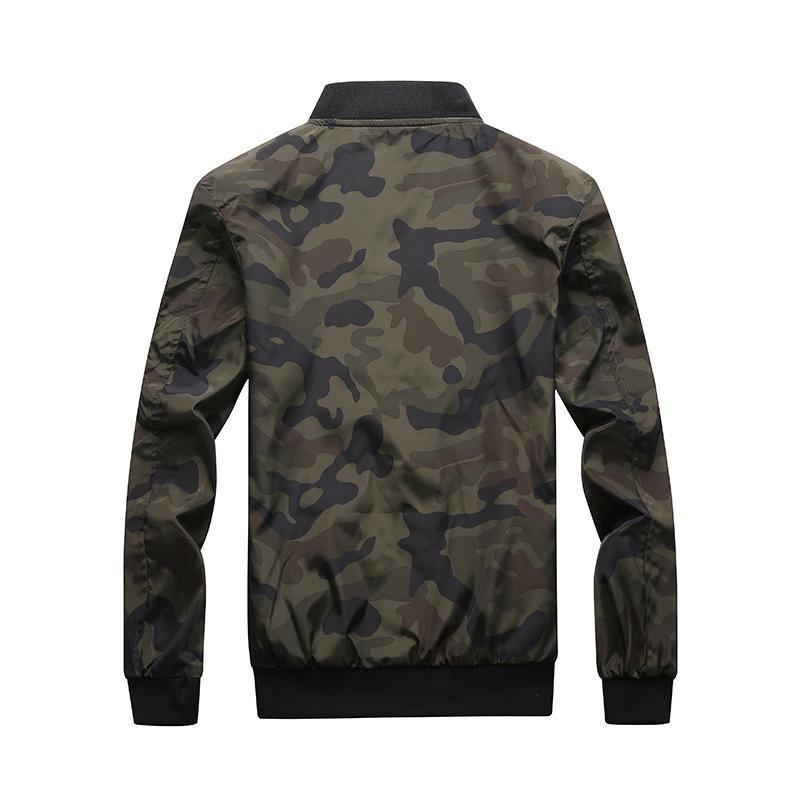 Camuflaje casual suelto chaqueta para hombre ropa deportiva bombardero abrigo top para hombre chaquetas y abrigos más tamaño M- 7xl jaqueta masculino