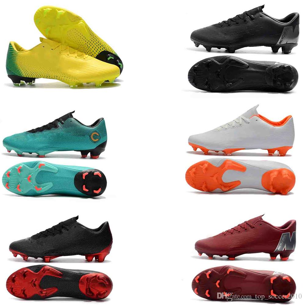 d94cc6cf8 2019 2018 High Top Mercurial Superfly SuperflyX 6 VI Elite XII PRO FG35 45  Mens Boys Soccer Shoes CR7 Cristiano Ronaldo 360 Football Boots Cleats From  ...