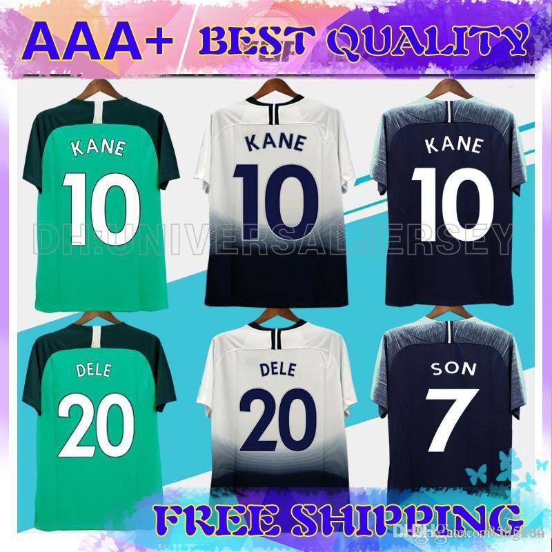 official photos 19363 ee4aa Top thailand quality KANE spurs Soccer Jersey 2018 2019 LAMELA ERIKSEN DELE  SON jersey 18 19 Football kit shirt Men and KIDS KIT SET uniform