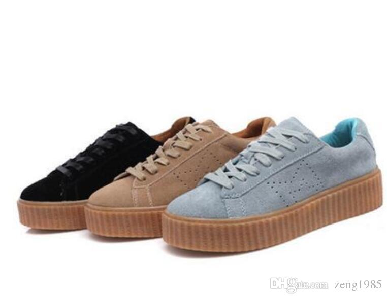 2018 New Charity Fenty Suede Cleated Creeper Womens Fenty Creepers ... 4e4bf7e9b