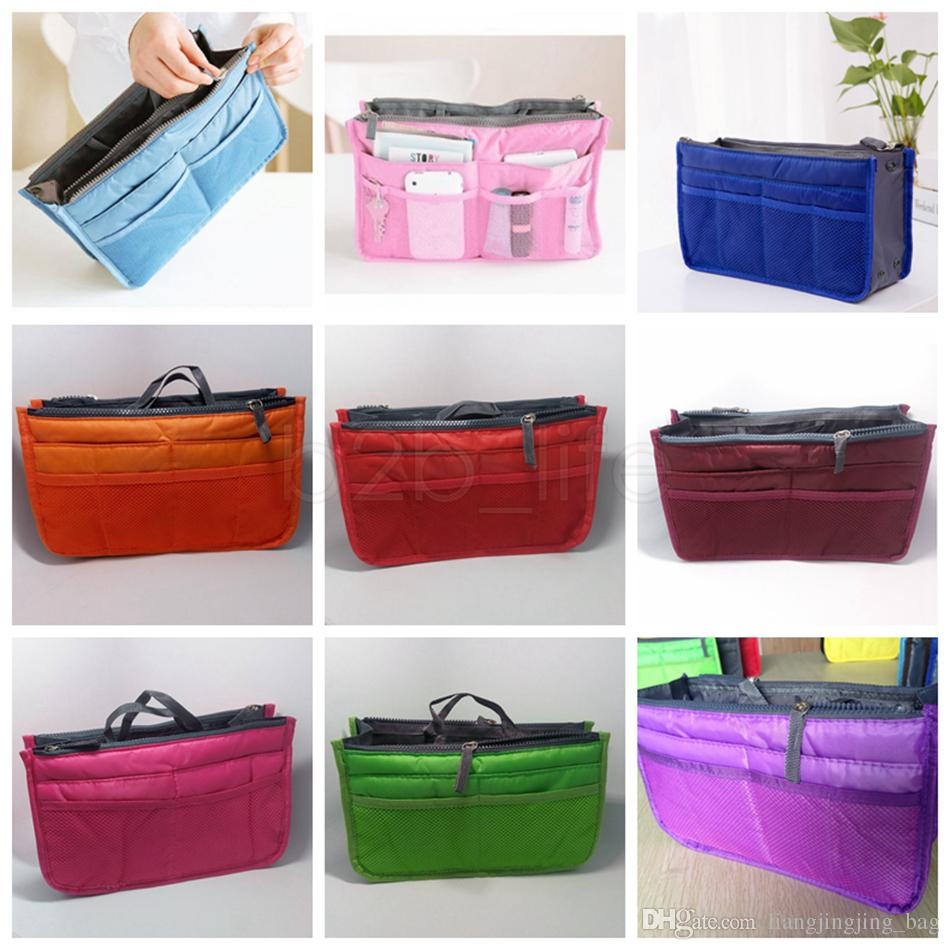 9420233fa4b6 Insert Purse Handbag Storage Bags Dual Bag In Bag Makeup Cosmetic Case Tidy  Travel Sundry Organizer Bags Pouch Tote AAA1658
