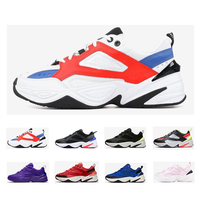 2020 Original-Monarch der M2K Tekno Dad Sports Laufschuhe Gel in Orange weiß Licht Knochen Mens Trianers Sport Turnschuhe 36-45