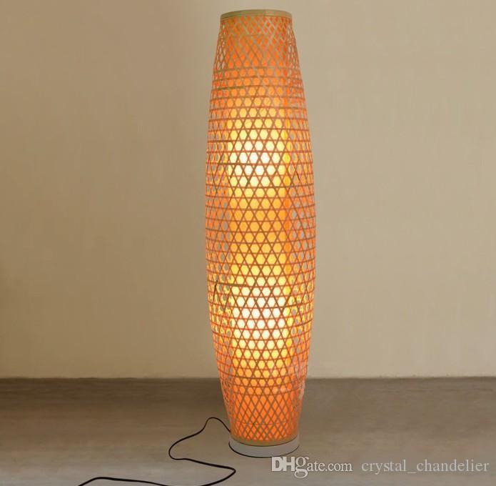 Grosshandel Bambus Wicker Rattan Shade Vase Stehleuchte Leuchte