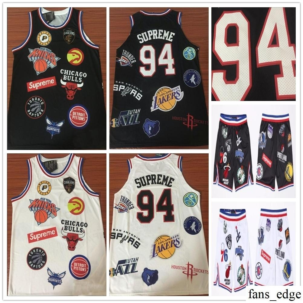 hot sale online 40585 80e9b Top Quality Stitched Sup Nie 18ss Teams Jerseys Basketball 94 Sup Couplets  Short T-shirts Casual Tops Hip Hop Skateboard Designer Tracksuit