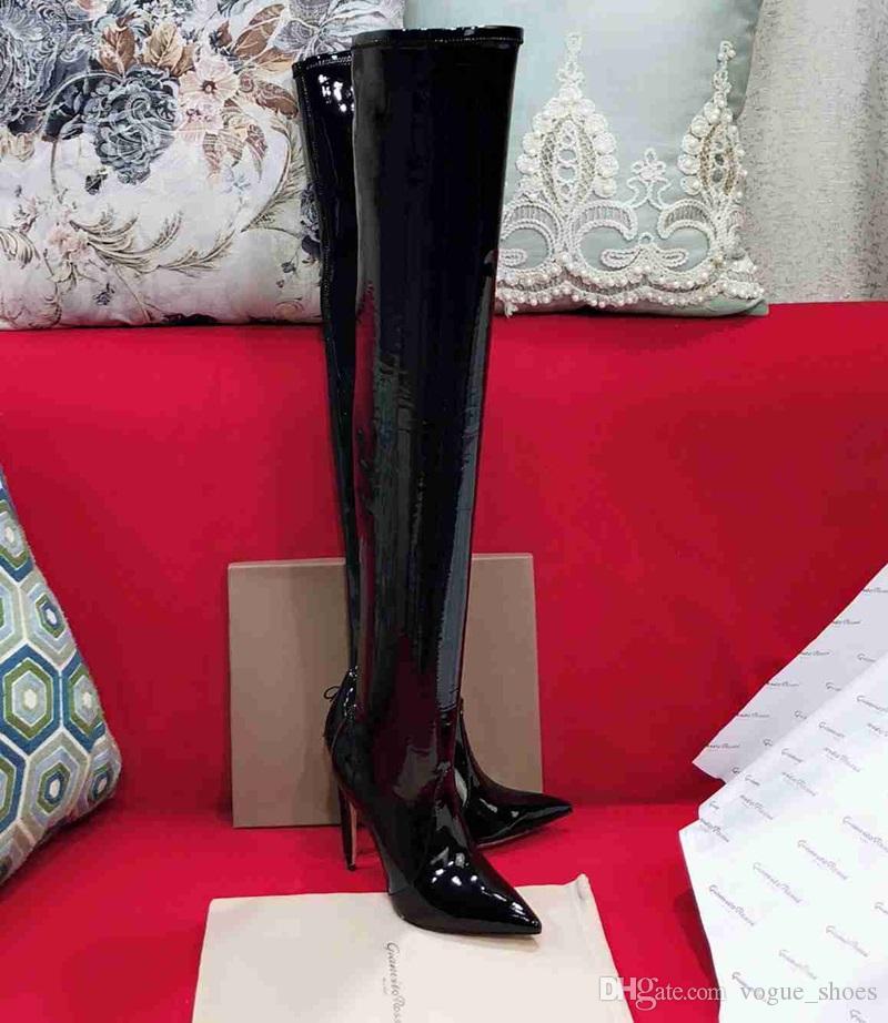 JOAN: Sexy black boots for women