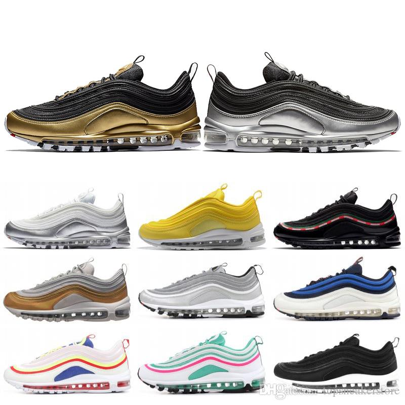 97 97s Men Running Shoes New Balck Metallic Gold South Beach PRM Yellow Triple  White Designer 97s Women Sports Sneakers 36-45 Designer Shoes Men Women Shoe  ... 3b792db3f