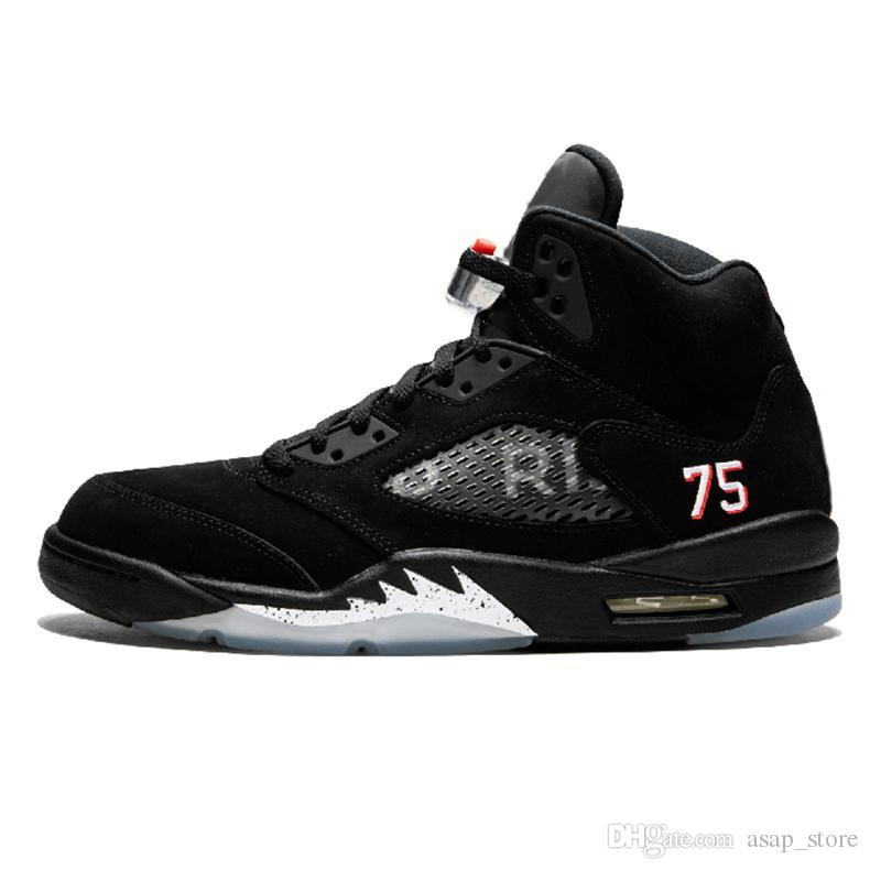 2019 New 5s Paris Saint Germain Black Basketball Shoes For Men Authentic  Sneakers Trainers Size 40 47 Basketball Mens Shoes From Asap store 62d675799