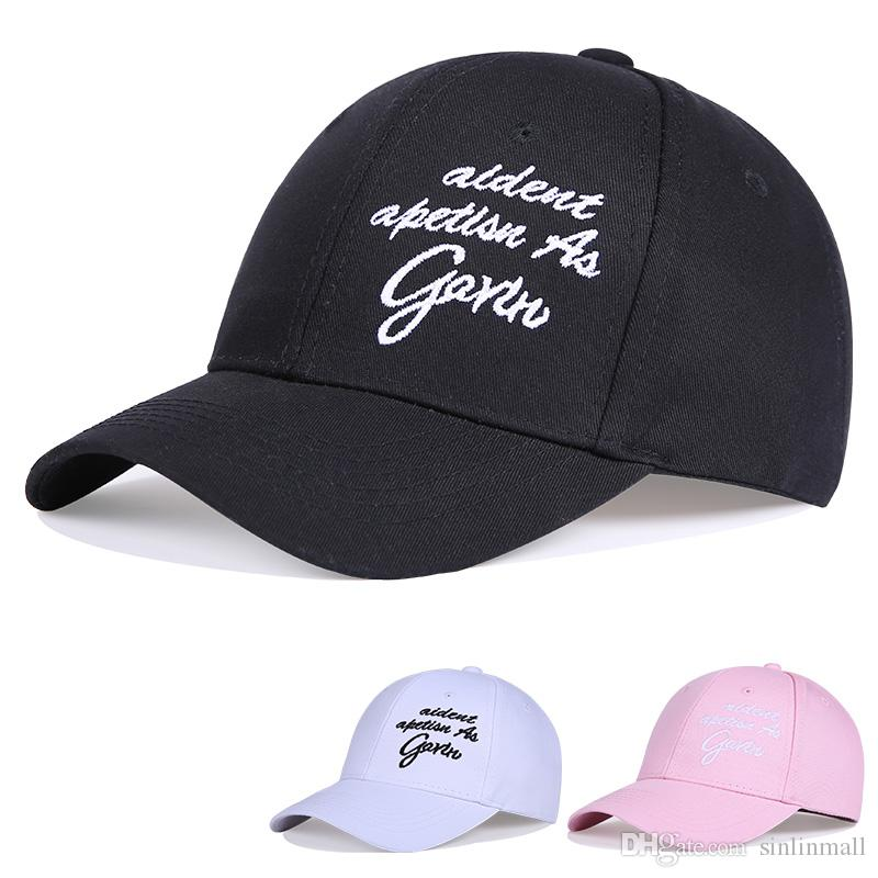 000d0374835 Fashion Cap Women Men Summer Spring Cotton Caps Women Letter Solid Adult  Baseball Cap Black White Hat Snapback Women Cap 47 Brand Hats Vintage Baseball  Caps ...