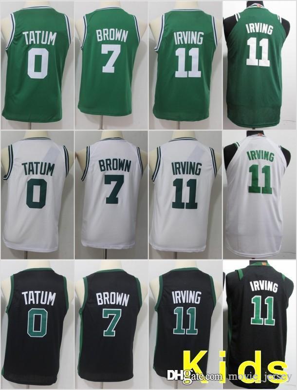 Youth Kids Boston 11 Irving Celtics Jerseys 0 Jayson Kyrie Tatum  7 Brown  33 Larry Jaylen Bird Basketball Stitched Size S XL UK 2019 From  Movie jersey 8542010b9
