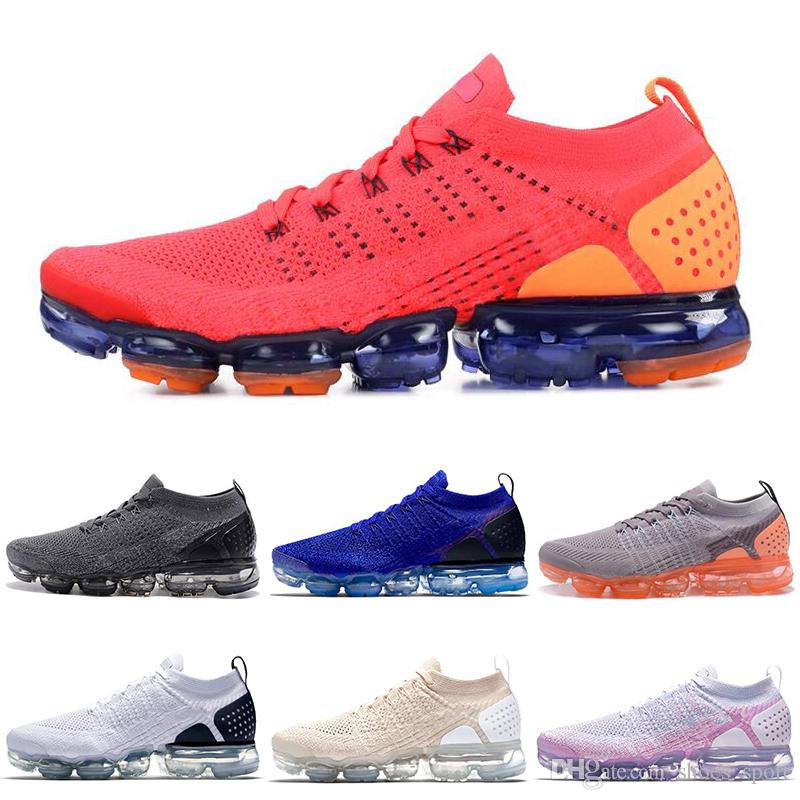 huge selection of 0ae12 71828 Acquista Nike Air Vapormax 2.0 VM Plus 2018 2.0 Mens Scarpe Da Corsa Rosso  Orbit Arancione Nero Viola Olympic Rainbow Be True 2.0 Scarpe Da Uomo  Sneakers Da ...
