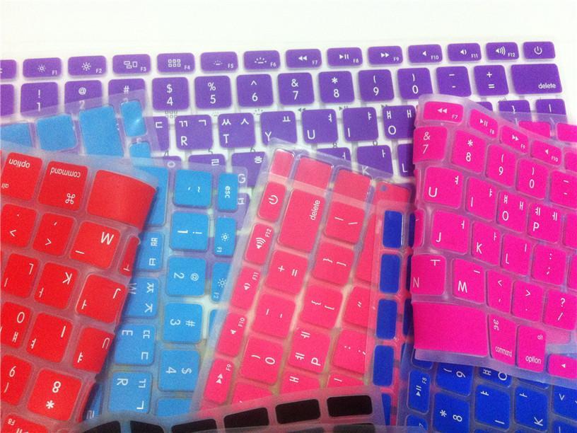 wholesale dealer 446f1 734fa Korean Letters Keyboard protector for Macbook Air Pro Retina 13 15 17  Laptop Skin Covers for Mac book 13 15 US Version