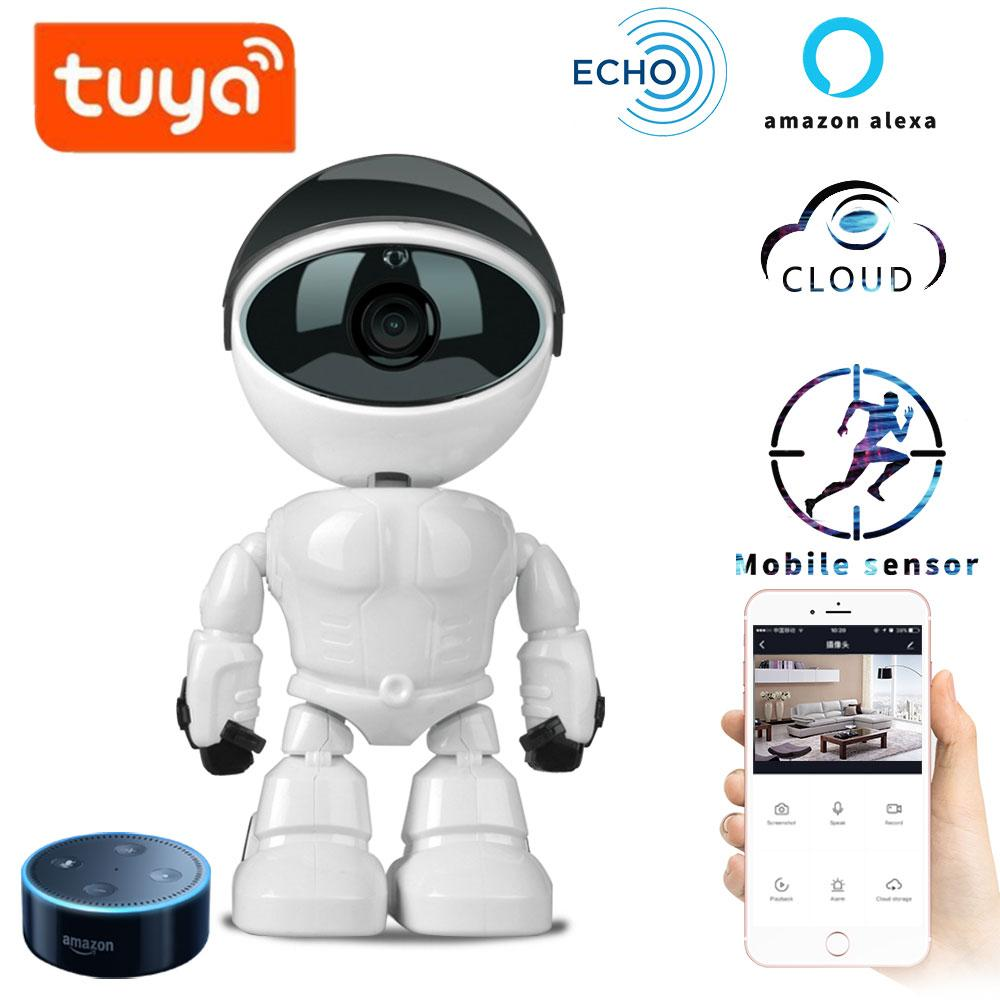 1080p Hd Network Camera Two-way Audio Wireless Network Camera Night Vision Motion Detection Camera Robot Pet Baby Monitor Baby Monitors