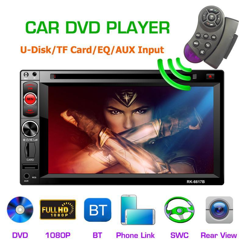 6.2-inch 2DIN Car Multimedia Player Steering Wheel Control FM Radio Bluetooth Hands-free Calls Media