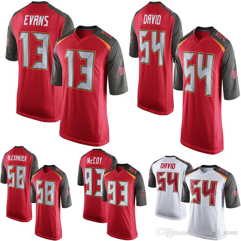 release date 329c7 e9bce Mens Tampa Bay Buccaneers Mike Evans Kwon Alexander Gerald McCoy Red Game  Jersey