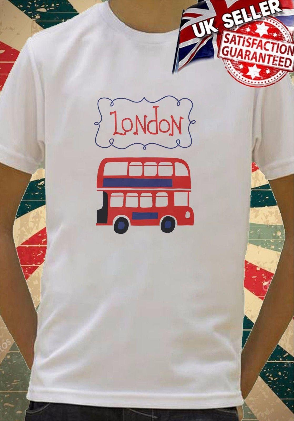 Red London Bus Boys Girls Birthday Gift Top T Shirt 189Funny Casual Tee Pt Shirts Tourist From Fatcuckoo 1296