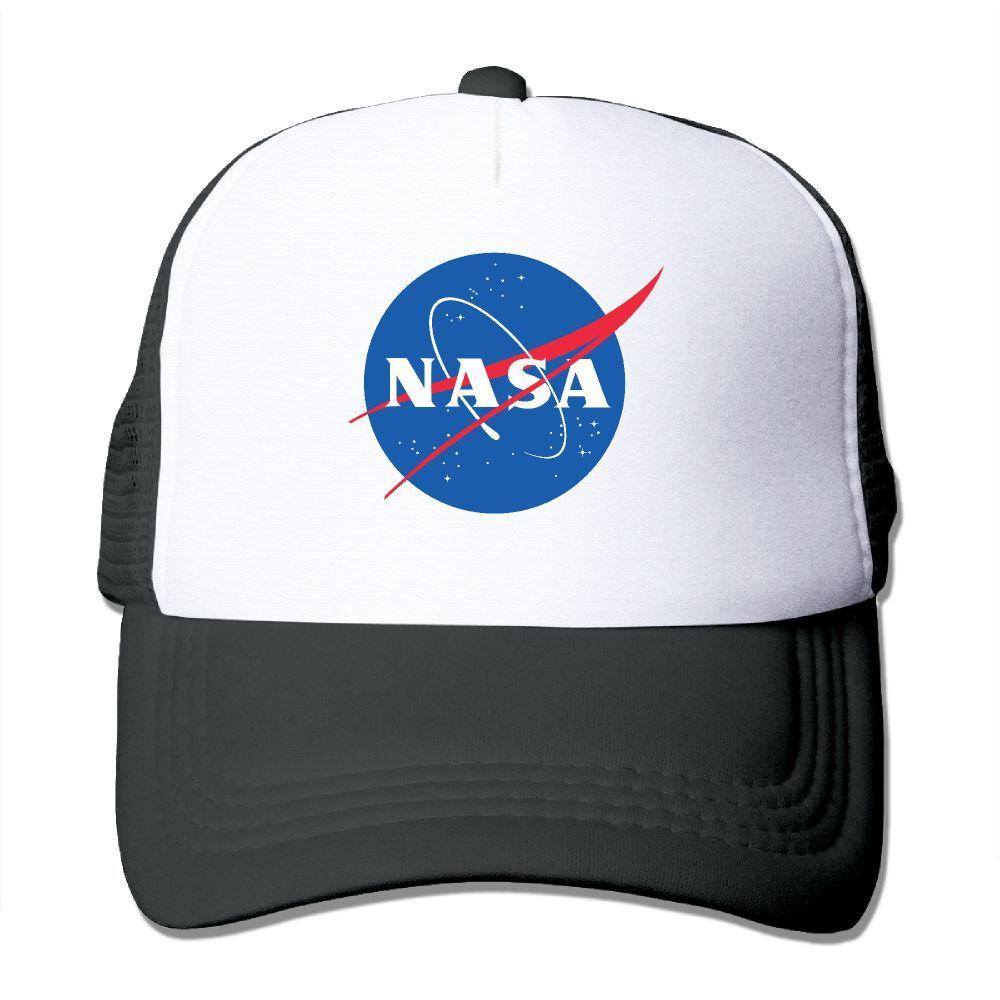 42c968e7ea5c3 Men Women NASA Print Trucker Cap Net Running Cap Summer Cool ...