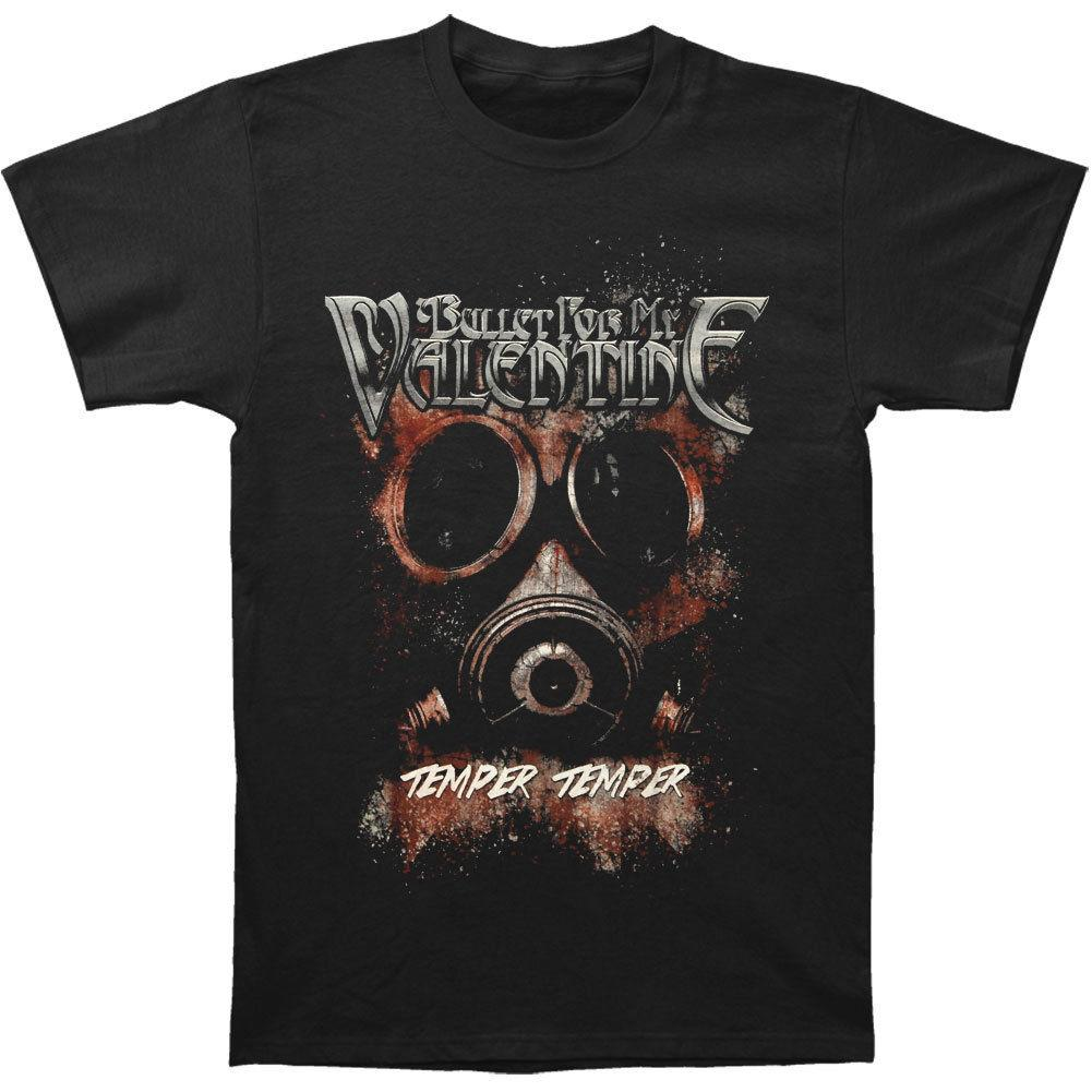 Bullet For My Valentine Men S Temper Temper Gas Mask T Shirt Black