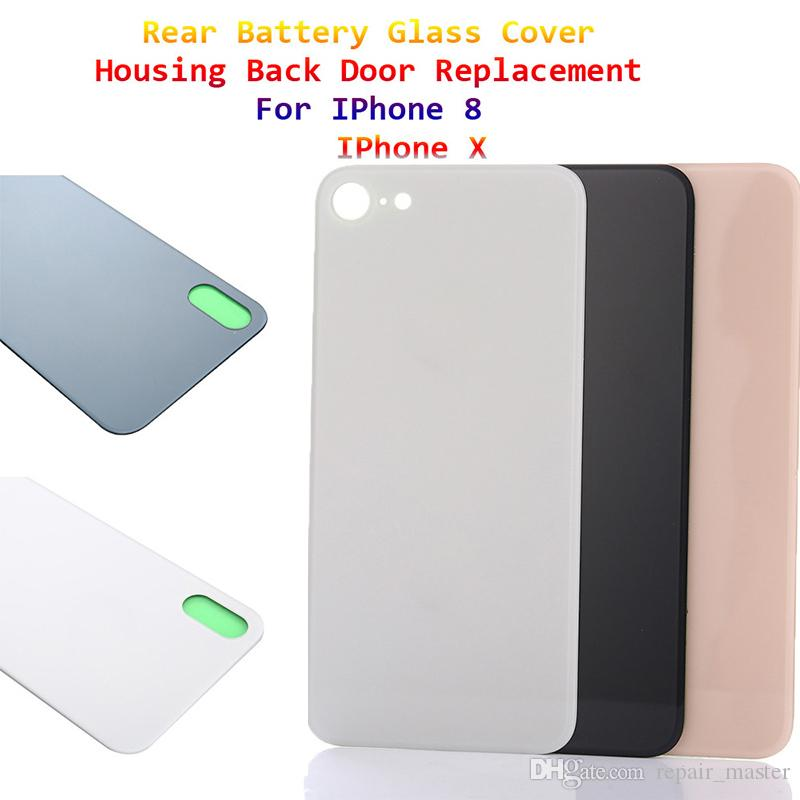 watch 991ae e3678 For iPhone 8 8 Plus X Original Back Battery Cover Rear Door Panel Glass  Housing Case Adhesive Sticker Repair Replacement Part