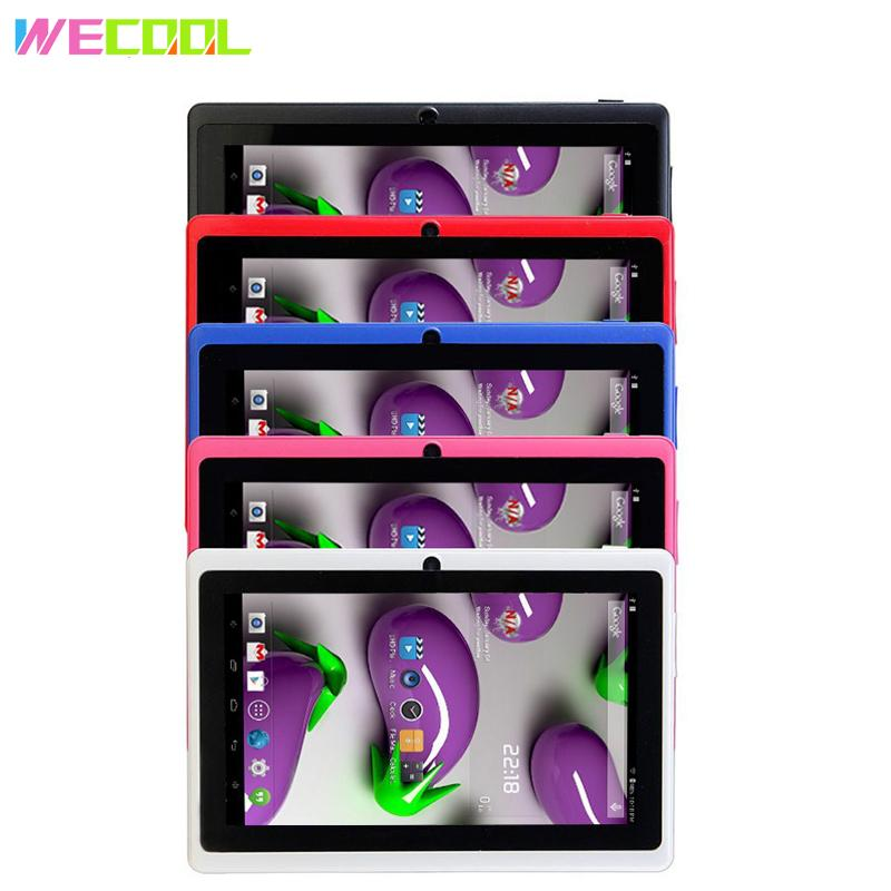 7 inch Original WeCool Q88 Cheapest Kids Tablet PC 1024x600 HD Resolution 2500Mah WIFI MID Android 4.4 8GB with Children Games
