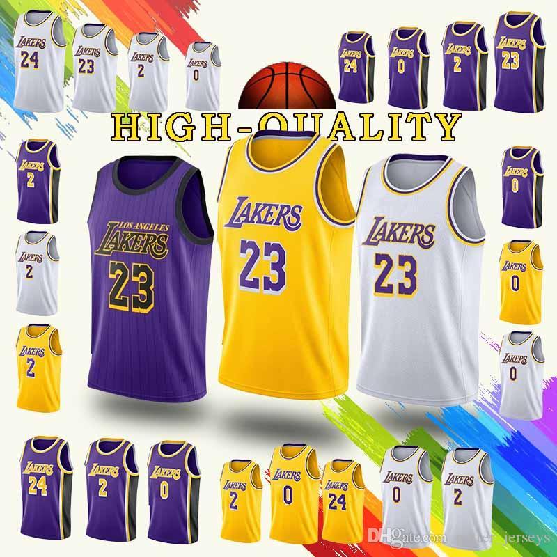 Promotion Los Angeles 23 LeBron James Jerseys Laker Kobe 24 Bryant Kyle 0  Kuzma Lonzo 2 Bal Jersey 2019 New Cheap Sales UK 2019 From Potter jerseys dd90e65d7