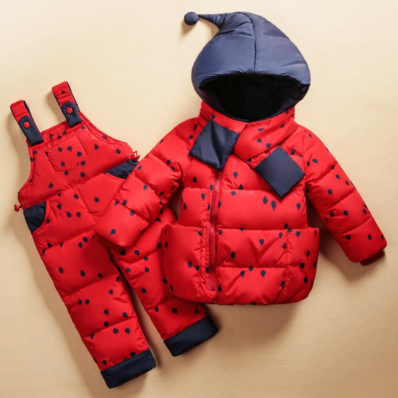 0836eccf2 Down Jacket For Girls Boys Unisex Clothing Set Baby Girl Clothes Suits  Polka Dot Hooded Kids Waterproof Snowsuit Girls Navy Coat Girls Pea Coat  From Jamani3 ...