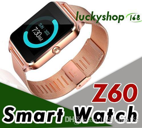 100x Z60 Bluetooth Smart Watch Reloj Smartwatch con acero inoxidable Soporte Sim Tf Tarjeta U8 Gt08 Gt09 Dz09 Smartwatch para Ios Android Dhl