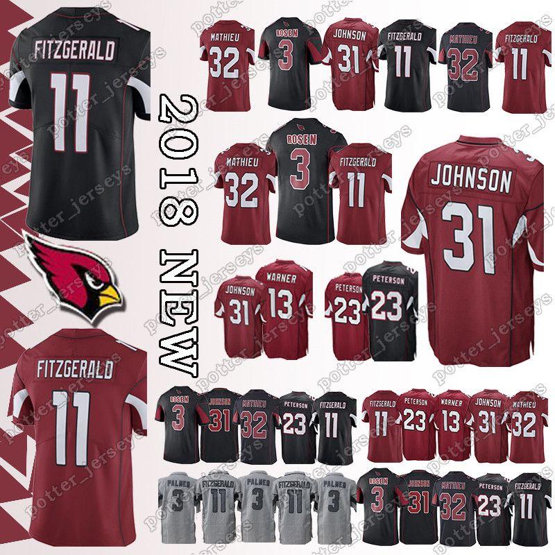 best website d9915 757e8 Cheap sales Arizona Cardinal 11 Larry Fitzgerald Jerseys 23 Adrian Peterson  31 David Johnson 32 Tyrann Mathieu Jersey Top quality