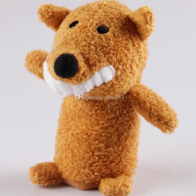 Story Animal Cartoon Biological Finger Puppet Plush Toys Baby Cloth Educational Hand Finger Dolls