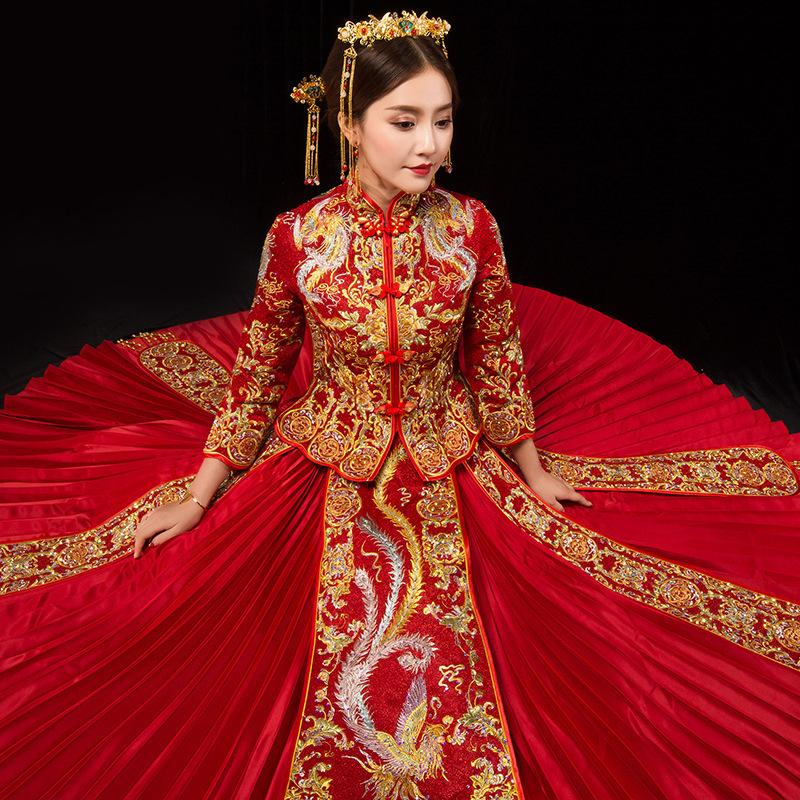 Tradition Red Wedding Dress