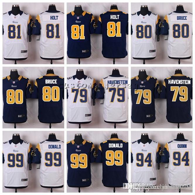 0669e9d2e8e 2019 Los Angeles Rams #99 Aaron Donald 94 Robert Quinn 90 Michael Brockers  81 Torry Holt 80 Bruce 79 Rob Havenstein Elite Football Jerseys From  Hoodiesno5, ...