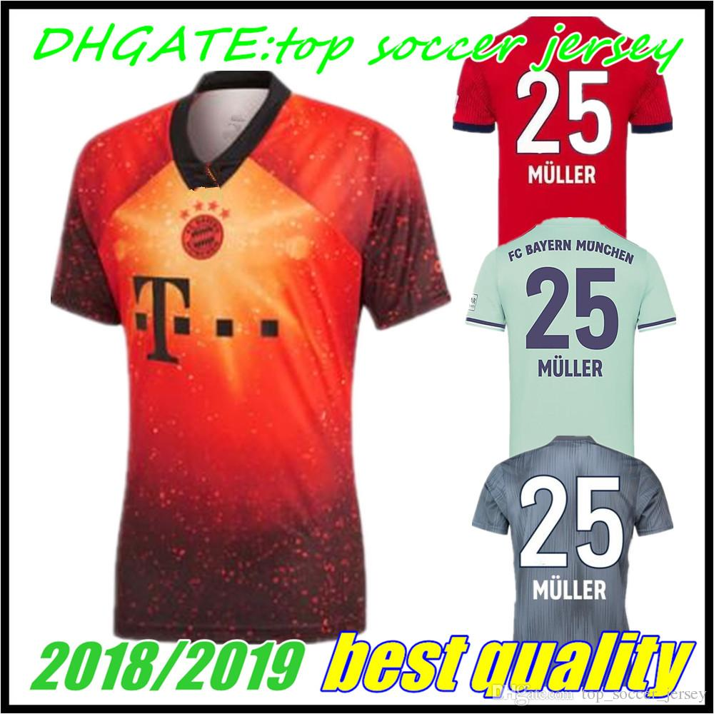 936aa0f5ab5a9 2018 2019 EA SPORT Bayern Múnich JAMES VIDAL RIBERY GOTZE SANCHES LAHM  Camisetas De Visitante 18 19 LEWANDOWSKI MULLER ROBBEN BOATENG Camiseta Por  ...