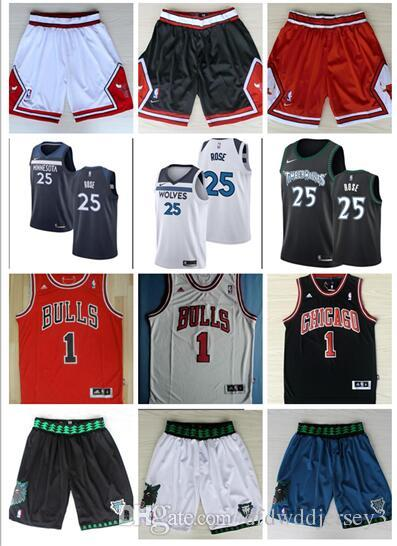 size 40 fee6c cdf19 Wind City Rose Jersey Timberwolves 25 Rose jersey 1 Rose Retro Embroidery  Fashion Logo Jersey Pant