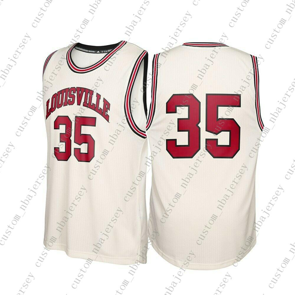 low priced 22c30 41656 Cheap Custom Louisville Cardinals NCAA #35 Tan Basketball Jersey  Personality stitching custom any name number XS-5XL