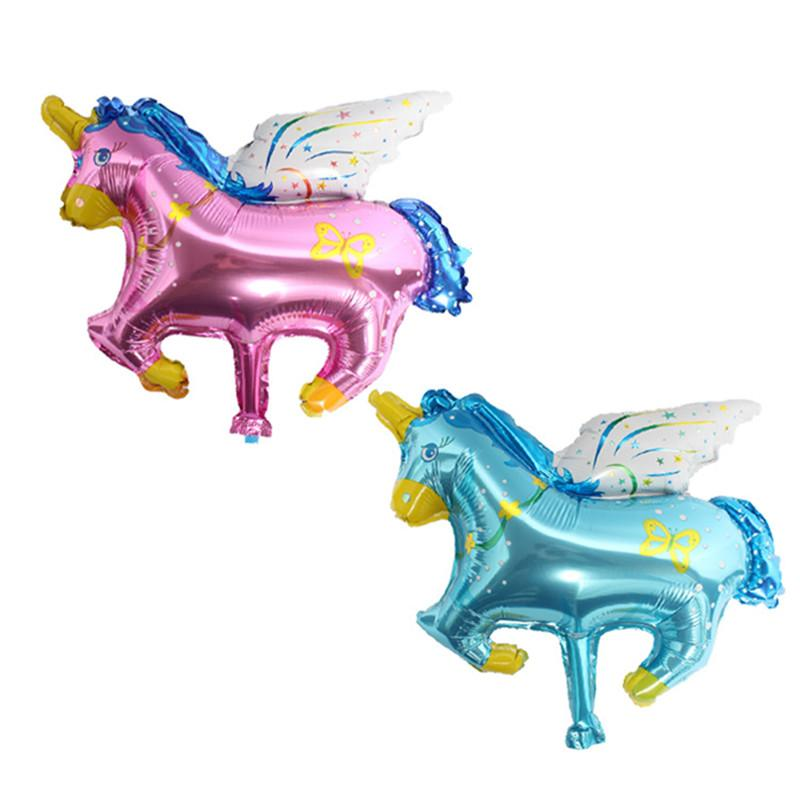 Mini balloon cute cartoon aluminum film balloon birthday party decoration Trojan horse pegasus baby first year decoration decora