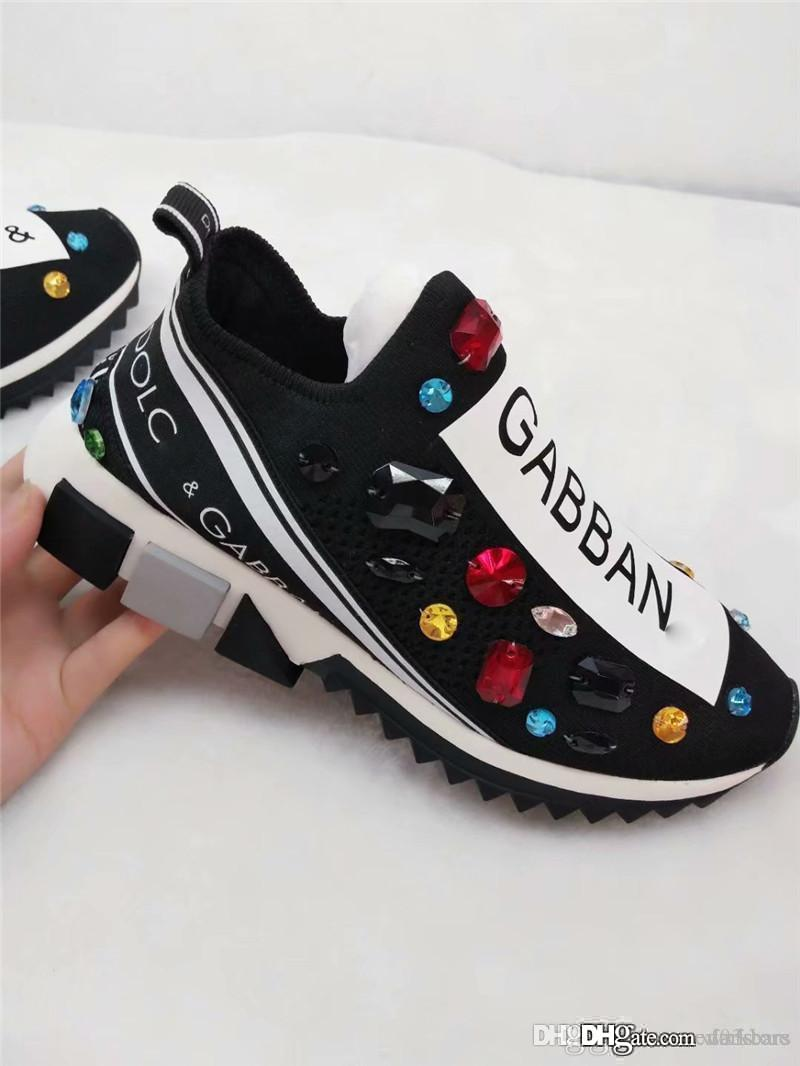 1226eaa85a36 2018 New Arrive DOLCE & GABBANA D.G D & G Crystal Sorrento Slip On Sneakers  MSRP With Box Clogs For Women Cheap Shoes Online From Darkbars, $110.56|  DHgate.