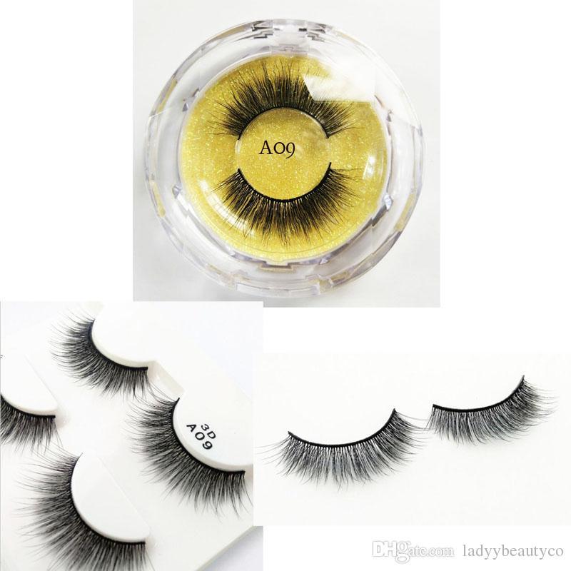 72bab7288d9 3D Faux Mink Hair False Eyelashes Wispies Long Cross Lashes Handmade ...