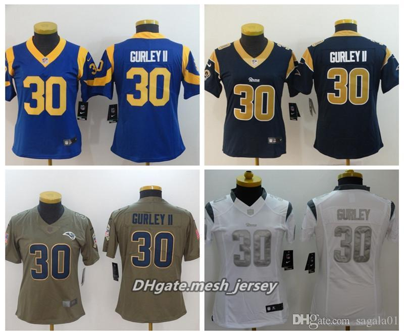 2019 Women Los Angeles Rams American Football Jersey 30 Todd Gurley II  Color Rush Stitching Jerseys From Yyb792 b39bd65c2a