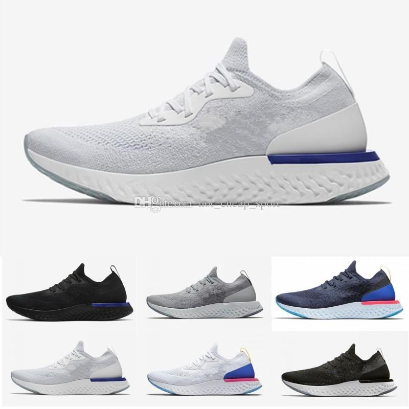 09f4e27e8a12 2019 New Epic React Mens Womens Running Shoes Black White Blue Instant Fly  Breathable Designer Sports Sneakers Shoes Size EUR 36 45 Free Shoes  Discount ...