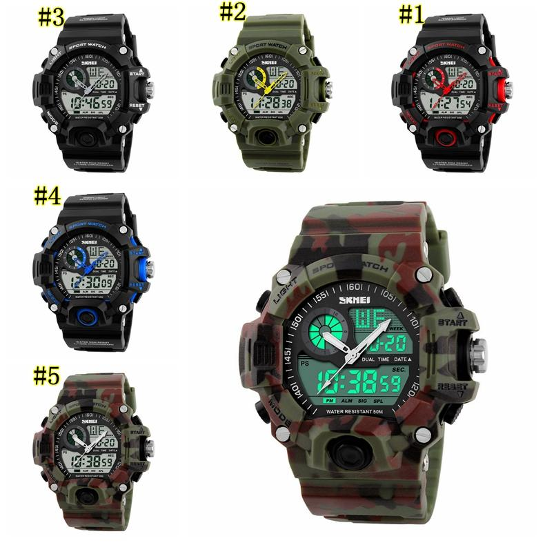 Outdoor Brand Reloje Hombre Style Digital Dual s shock Time Tactical Watches Men Fashion Man Sports Watches Luxury Brand MMA1471 50pcs