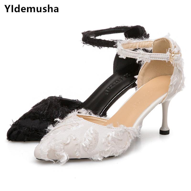 a45edf919ca Dress Shoes Yidemusha 2019 Sandalias Women Femeninas Autumn Flock Pointed  Sandals Sexy High Heels Female Summer Female Sandals Mujer Womens Sandals  ...