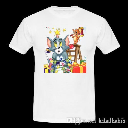 b40590700 Compre Camiseta De Navidad Retro Vintage Para Hombre Tom Y Jerry Comic  Dibujos Animados Vacaciones Divertidas A  10.85 Del Kihalhabib