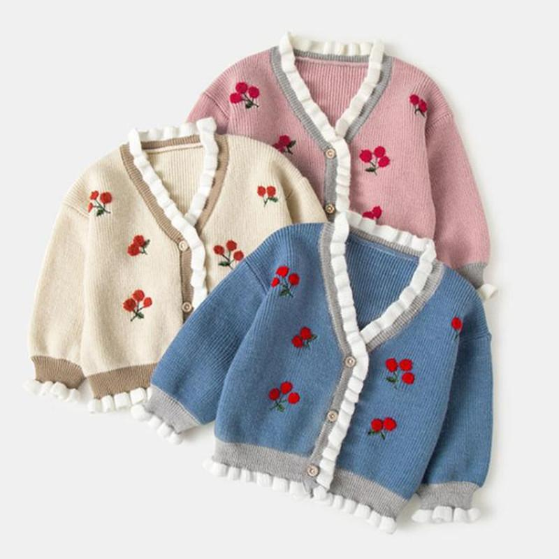 8ef5bc2758f7 New Born Baby Boy Girls Coat Girls Jackets Knitted Baby Clothes Kids ...