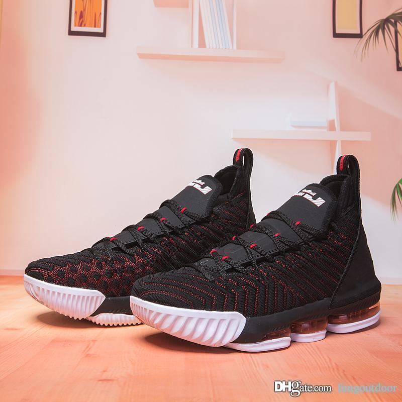 962de566a6b Cheap Mens 16s Basketball Shoes Lakers Oreo James 16 The Fresh Bred Triple  Black Trainers Sports Designer Sneaker Shoes Size Eur 40-46