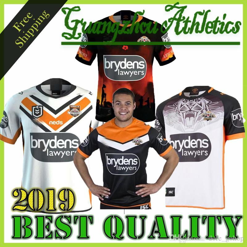 c92d3bd37d5 2019 2019 Nrl Brisbane Broncos Rugby Jerseys West Tigers MAORI KIWIS SYDNEY  ROOSTERS Cowboys Warriors Eels KNIGHTS St. George Holton Rugby Jersey From  ...