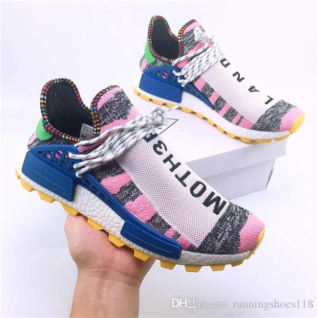 7353fc6d0 2018 Creme X NERD Solar PacK Human Race Holi MC Casual Shoes Pharrell  Williams Hu Trail Cream Core Black Equality Trainers 36-47 Casual Shoes  Shoes Sneakers ...