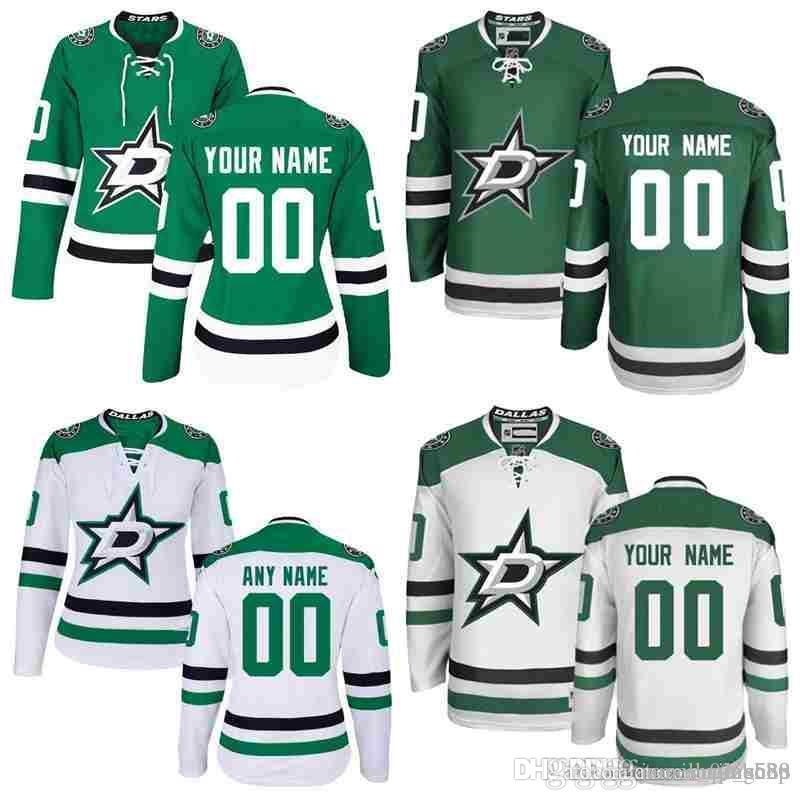 finest selection 2a5a5 5a7b6 2018 Stitched Custom Dallas Stars Custom mens womens youth OLD BRAND Green  White Black Personalized Customized Vintage hockey Jerseys S-3XL